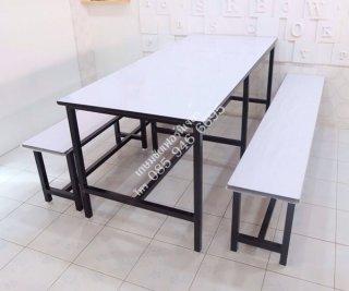 โต๊ะโรงอาหาร หน้าขาว