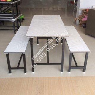 โต๊ะโรงอาหาร หน้าโฟเมก้าขาว