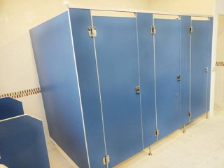 ผนังกั้นห้องน้ำสำเร็จรูป ไม้ปาร์ติเกิล
