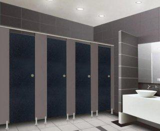 ผนังกั้นห้องน้ำ ฺBLACK S009