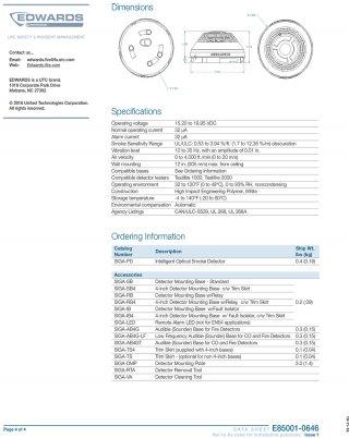 Intelligent Smoke Detector SIGA-PD