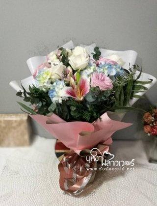 ช่อดอกไม้สดสไตล์เกาหลี