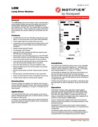 LDM-32 Lamp Driver Modules