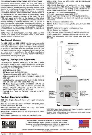 NBG-12 Manual dual Action