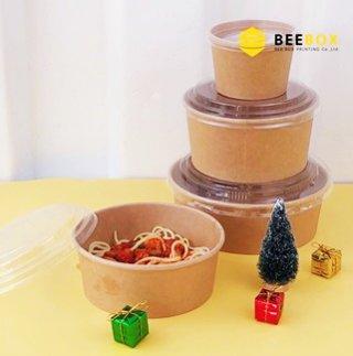 ฝาปิดกล่องอาหารกระดาษคราฟท์ รหัส JH-H-1000B (M)