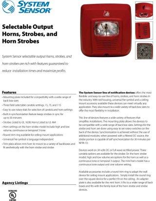 Horn-Strobe Light Red SYS-HS