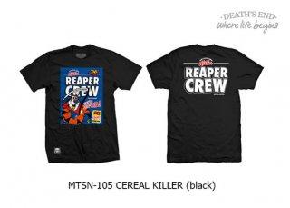 [S] เสื้อยืดสีดำ MTSN-105-CEREAL KILLER (Black)