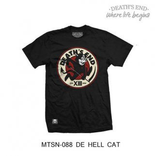 [S] เสื้อยืดคอกลมสีดำ รหัส MTSN-088 DE HELL CAT