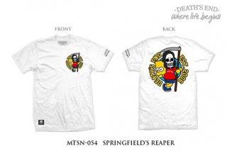 [S] เสื้อยืดสีขาว MTSN-054 SPRINGFIELD'S REAPER