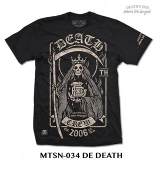 [S] เสื้อยืดคอกลมสีดำ รหัส MTSN-034 DE DEATH
