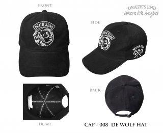 หมวกแก๊ป DEATH'S END รหัส CAP-008 DE WOLF HAT
