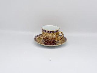 แก้วกาแฟ ลายเต็มใบเบญจรงค์