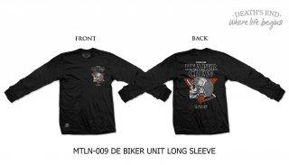 [L] เสื้อยืดแขนยาว รหัส MTLN-009 DE BIKER UNIT