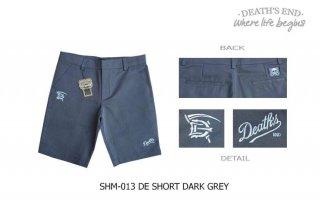 [M] กางเกงขาสั้นสีเทา SHM-013 DE SHORT DARK GRAY