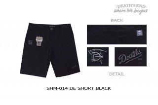[L] กางเกงขาสั้นสีดำ รหัส SHM-014 DE SHORT BLACK