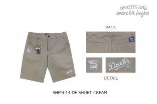 [L] กางเกงขาสั้นสีครีม SHM-014 DE SHORT CREAM