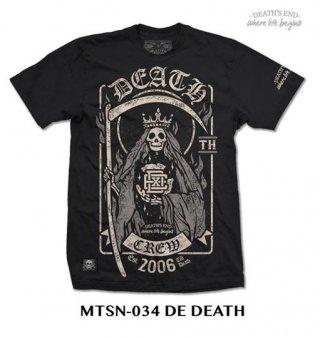 [XL] เสื้อยืดคอกลมสีดำ รหัส MTSN-034 DE DEATH