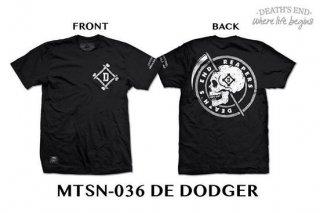 [XL] เสื้อยืดคอกลมสีดำ รหัส MTSN-036 DE DODGER