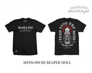 [L] เสื้อยืดสีดำ รหัส MTSN-090 DE REAPER DOLL