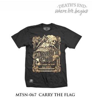 [L] เสื้อยืดคอกลมสีดำ รหัส MTSN-067 CARRY THE FLAG