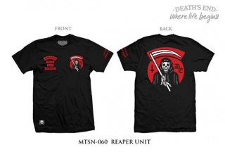 [L] เสื้อยืดคอกลมสีดำ รหัส MTSN-060 REAPER UNIT