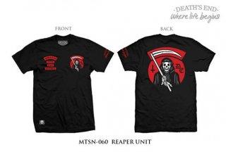 [XXL] เสื้อยืดคอกลมสีดำ รหัส MTSN-060 REAPER UNIT