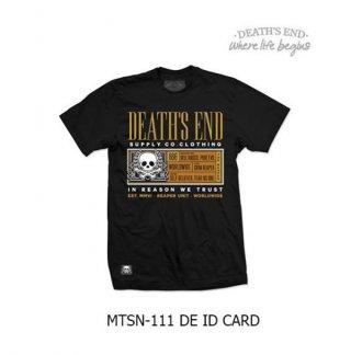 [M] เสื้อยืดคอกลมสีดำ รหัส MTSN-111 DE ID CARD