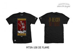 [XL] เสื้อยืดคอกลมสีดำ รหัส MTSN-108 DE FLAME