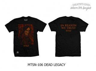 [M] เสื้อยืดคอกลมสีดำ รหัส MTSN-106 DEAD LEGACY