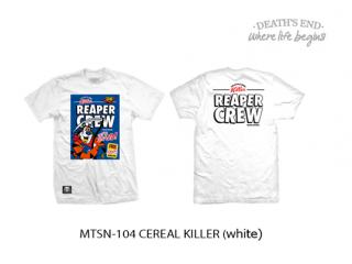 [L] เสื้อยืดสีขาว MTSN-104 CEREAL KILLER (White)