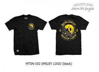 [M] เสื้อยืดสีดำ รหัส MTSN-102 SMILEY LOGO (Black)