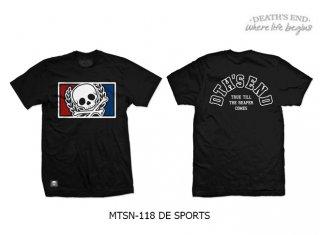 [L] เสื้อยืดคอกลมสีดำ รหัส MTSN-118 DE SPORTS