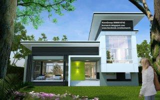 รับออกแบบบ้านชั้นครึ่ง