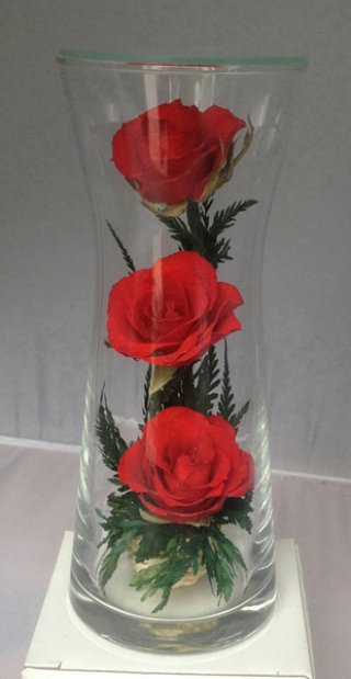 ดอกไม้อบแห้งในโถแก้ว VAS-02 R