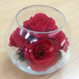 ดอกไม้อบแห้งในโถแก้ว GP-02R