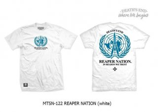 [XXL] เสื้อยืดสีขาว MTSN-122 REAPER NATION (White)