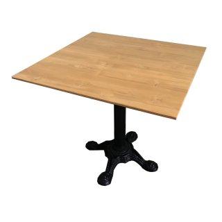 โต๊ะทรงเหลี่ยมเหล็กหล่อขาแฉก TBS-06