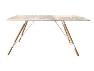 โต๊ะเหลี่ยมขาเหล็กท็อปไม้ รหัส TBS-08