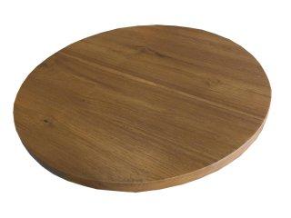 ท็อปโต๊ะอาหาร ไม้สักทรงกลม TT-03
