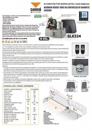 ประตูรีโมท บานเลื่อน Cardin รุ่น SLX324