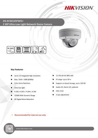 กล้องวงจรปิด CCTV HIKVISION DS-2CD2125FWD-I