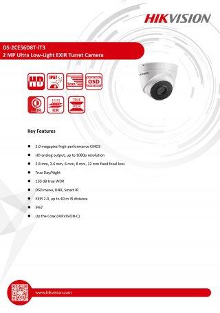 กล้องวงจรปิด CCTV HIKVISION DS-2CE56D8T-IT3