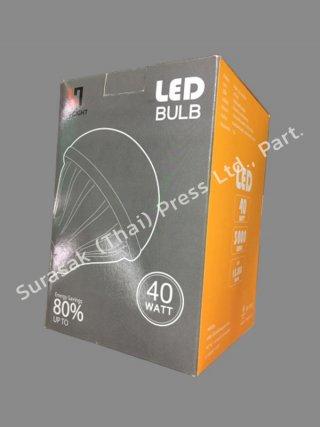 รับพิมพ์กล่องหลอดไฟ LED