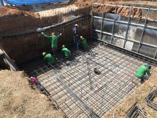 รับสร้างถังเก็บน้ำคอนกรีตเสริมเหล็กใต้ดิน