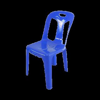 เก้าอี้พลาสติก มีพนักพิง เกรด A สีน้ำเงิน #182ABL