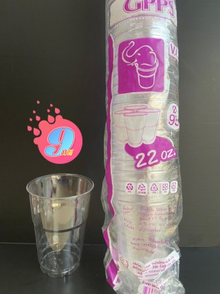 ถ้วยน้ำดื่ม GPPS ขนาด 22 ออนซ์