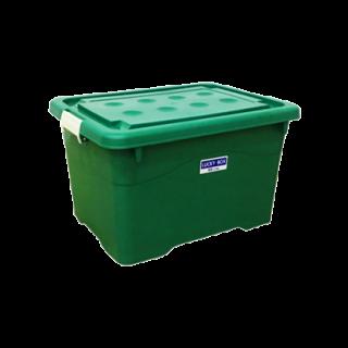 กล่องพลาสติก 60 ลิตร  สีเขียว #214MG