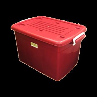 กล่องพลาสติก 75 ลิตร สีแดง #2175MR