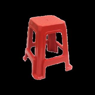 เก้าอี้พลาสติกไม่มีพนักพิง เกรด A สีแดง #187AR