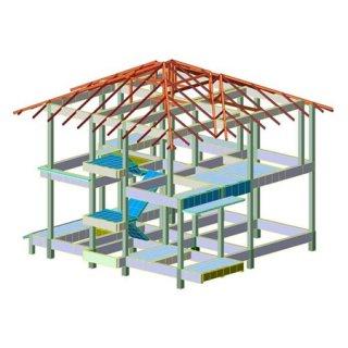 บริการออกแบบโครงสร้างบ้านสองชั้น